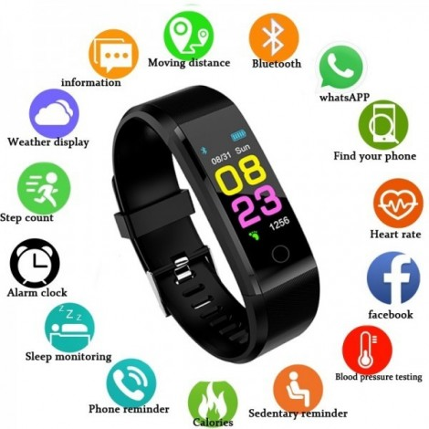 Smart watch man, woman. Heart rate Monitor blood pressure Fitness Tracker sports watch Smartwatch for ios