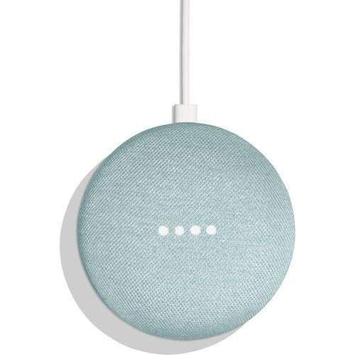 Google Home Mini Smart Speaker Aqua