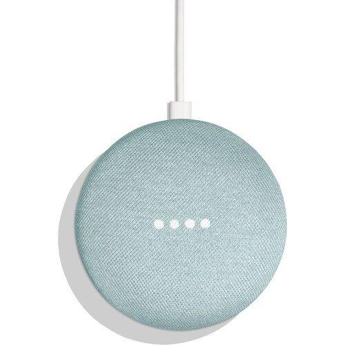Google Home Mini Smart Speaker Aqua