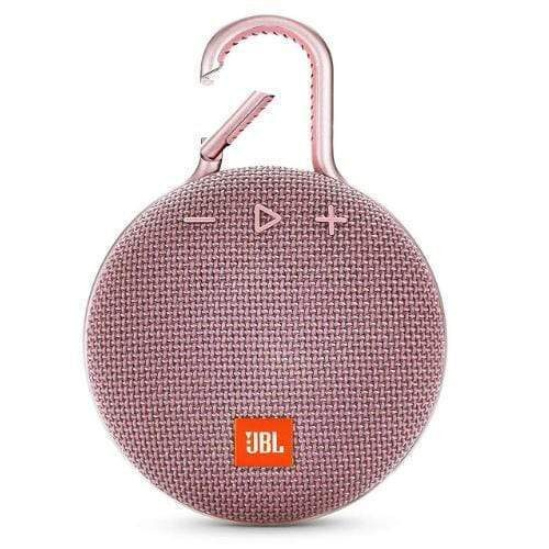 JBL Clip 3 Portable Bluetooth Speaker pink