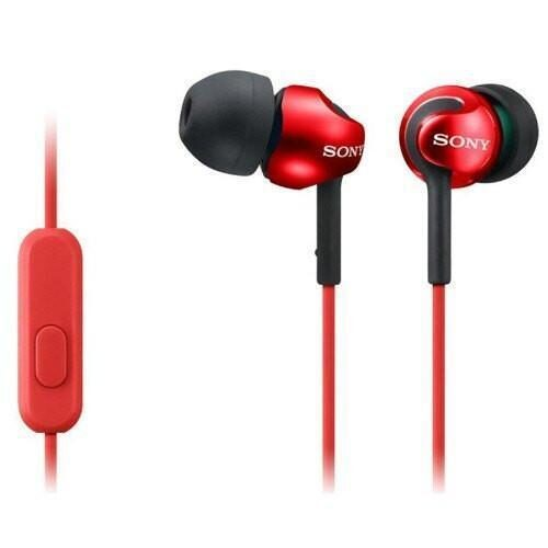 Sony MDR EX110APB In Ear Headphones red